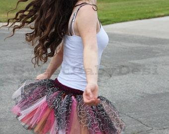 Sparkly Tutu Skirt, Crochet Glittery Tulle Skirt