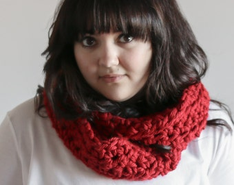 Infinity Scarf Chunky Cowl Warmer | THE ARKLOW in Russet