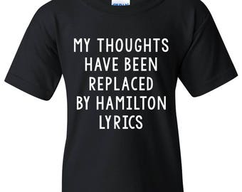 Hamilton Thoughts YOUTH T Shirt - Black