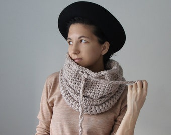 The Nantucket Cowl in Water Chestnut (Color is Discontinued)