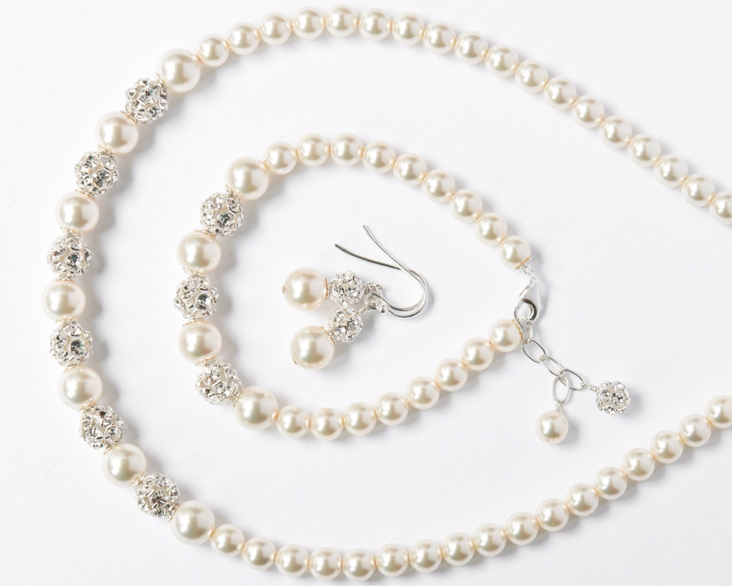 Bride Jewelry Set Pearl Jewelry Set for the Bride Art Deco