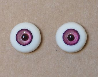 14mm Moonteahouse (Mth) Eyes - Handmade Purple Resin Eyes for BJD, ABJD and Dolls [17051]