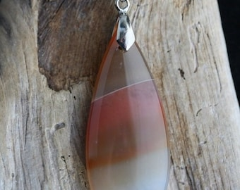 Spring Into Summer Sale - Red Line Agate Necklace - Item 1379