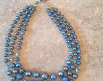 Vintage triple strand necklace