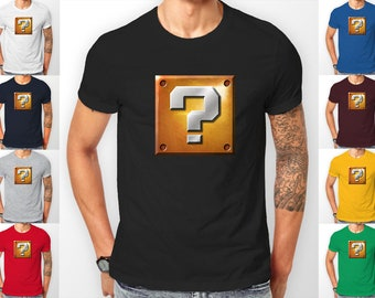 Mario Questin Block Realistic Gaming Tee shirt T-Shirt