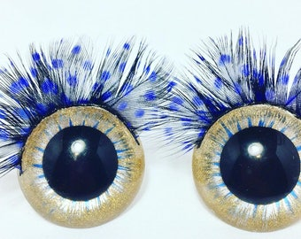 40 mm Eyelash Collection Wide Eyes, Safety Eyes, Craft Eyes, Doll Eyes, Animal Eyes