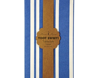 Blue Paper Tablecloth -  Meri Meri Toot Sweet Blue Tablecloth- Great for Little Boy Birthday Parties!
