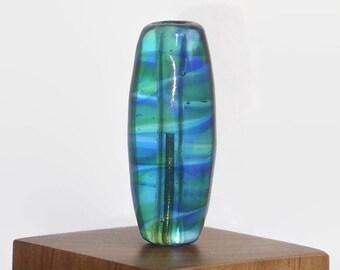 Handmade Glass Lampwork Focal Bead - Deep Blue Sea
