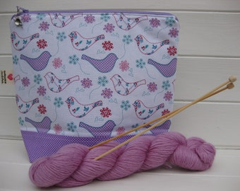Medium knitting project bag, crochet project bag, project bag