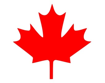 Maple Leaf Vinyl Decal Canadian symbol Canada Sticker 0042