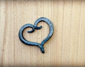 Hand Forged Heart - Blacksmith Heart - Key chain