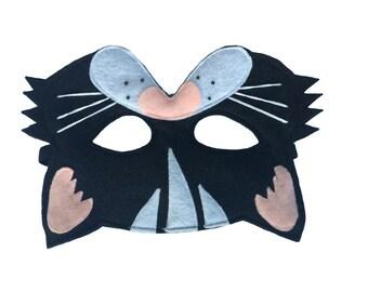 Children's BLACK CAT Felt Mask