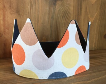 Child's Polka Dot and Denim Crown