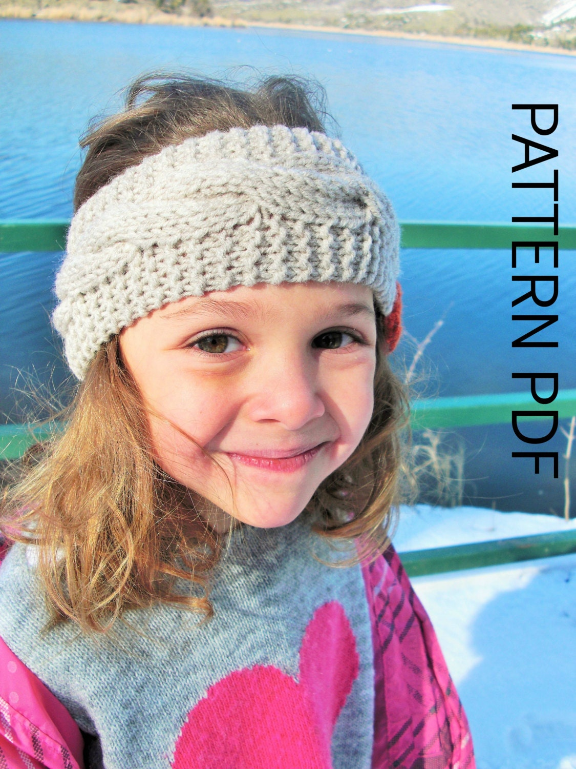 Braided Headband Knitting PATTERN Instant Download downloadable ...