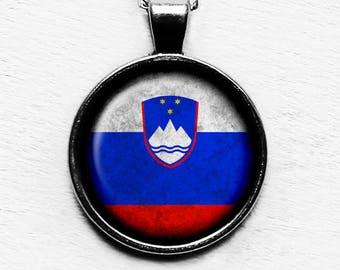 Slovenia Slovenian Flag Pendant & Necklace