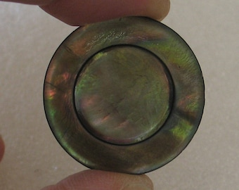 Vintage 27mm  Abalone Shell Button 1 Piece