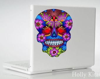 Butterfly Sugar Skull Vinyl Decal Sticker Day of the Dead Flower Mexican Skull Muertos