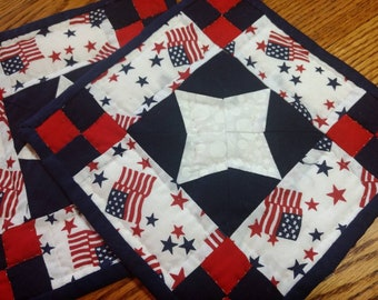 Pair of 4th of July Potholders