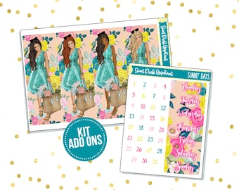 Sunny Days // Kit ADD ONS-Stickers for the EC Happy Planner Life planner