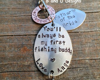 Father of the Bride  Fishing lure  Father's Day- Father of the Groom- Groomsmen  Groom