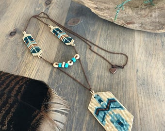 Water Protector beadwork necklace , water is life