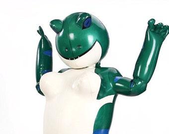 Latex Inflatable Kongfu Orange Fox