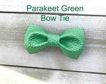 Parakeet Green Bow Tie, Bowtie, Green, Pinch