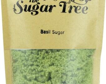 Basil Sugar - Handmade - Naturally Flavoured Basil Sugar - Basil Sugar - Flavoured Sugar - Gourmet Sugar