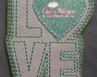 Oversize Love Downward Paperclip