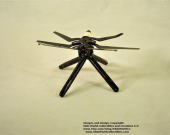 Welded Steel Industrial Steam Sculpture~ Dragonfly Minnie #2