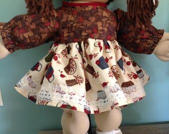 """16"""" Doll Clothes, 16"""" Baby Doll Clothes, 16 Inch Doll Clothes, 16"""" Doll Dress"""