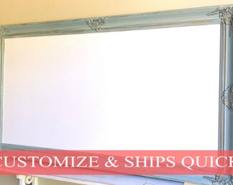 LARGE WHITEBOARD Magnetic Dry Erase Board Framed Memo Board French Blue Farmhouse Decor Ready to Ship Gift for Her Small Business Office