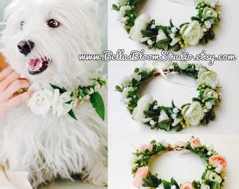 Wedding Dog Collar And Leash Ensemble