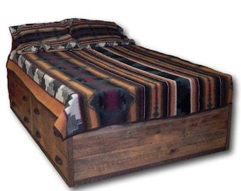 Barnwood Platform Bed