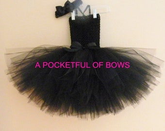 Black Tutu Dress, Toddler Black Party Dress, Girls Black Tutu Dress