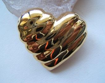 Trifari Gold Tone Heart Pin - SALE