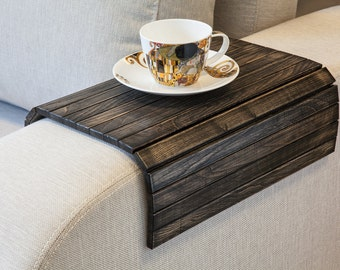 Delicieux Sofa Arm Tray VINTAGE Black / TV Tray / Sofa Arm Table / Rustic Ottoman Tray  / Sofa Tray Table / Wooden Ottoman Tray / Laptop Tray Wood
