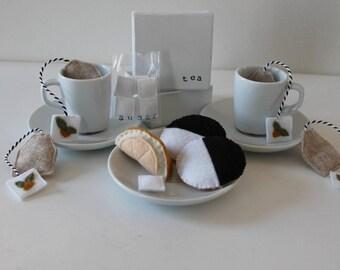 Felt Food Felt Tea Bags Play Food Pretend Food Play Tea Set