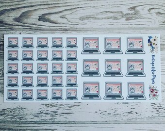 Lolly D. Unicorn Laptop Planner Stickers
