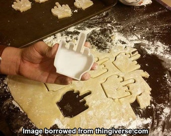 Middle Finger Cookie Cutter [3D Printed]