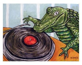 Alligator DJ Art Print