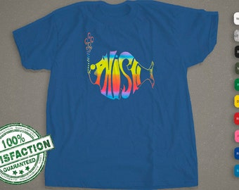 Phish Logo T-shirt | Rainbow Logo Fish | Concert Shirt  | Audiophile Shirt | Shirt For Men, Woman, & Kids