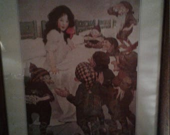 Vintage Snow White And The Seven Drawfs/ Litho/Bessie Wilcox Smith