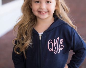 Monogrammed full zip Sweatshirt, Infant and toddler