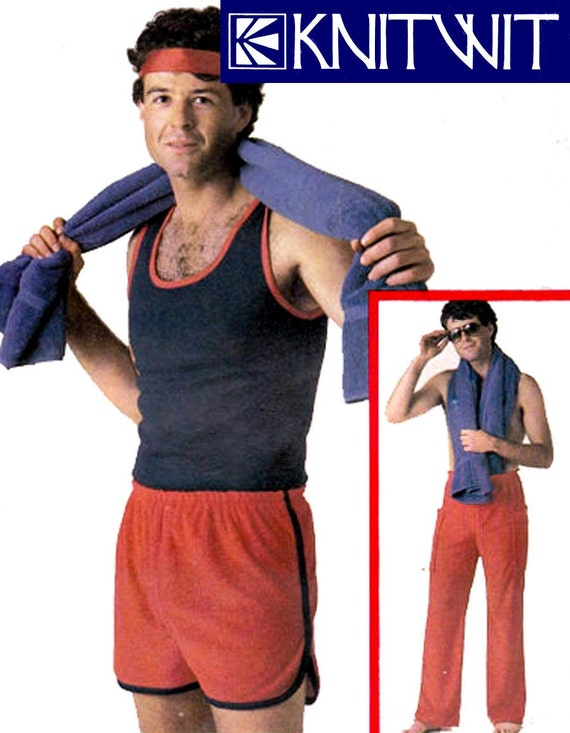 Knitwit 9300 Mens Pants Short Shorts Stretch Singlet Top 80s Vintage ...