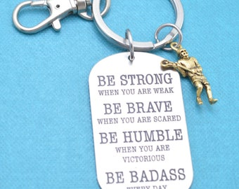 Lacrosse keychain.  Lacrosse key chain.  Lacrosse Gifts.  Lacrosse Mom.  Be Badass Everyday.  Lacrosse necklace.  Lacrosse Gifts.