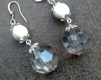Any transparent and iridescent earrings