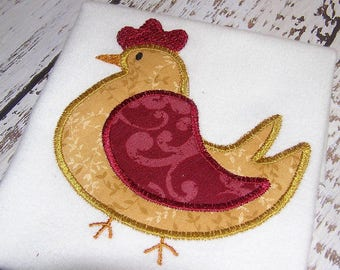applique rooster machine embroidery instant download design, appliqué hen, farm animal, appliqué rooster design, kitchen rooster design