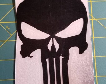 The Punisher skull decal