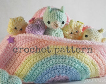 Crochet alpaca etsy crochet pattern amigurumi alpaca and rainbow box dt1010fo